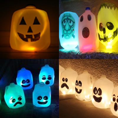 Glowing Milk Bottle Ghost