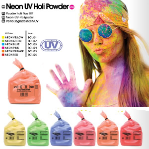 Neon UV Holi throwing Powder Special Offer: 50% Off
