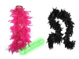 "Pink / Black Feather Boa 50"" inches SPECIAL OFFER 33% off"