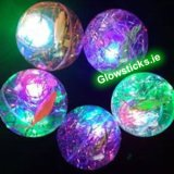 Large Flashing Glitter Bouncy Balls
