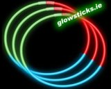 Pack of 50 Quality Tri Colour Glow Necklaces 6mm x 580mm