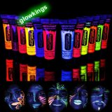 Set of 4 UV Face Paint Neon Body Paint 12ml 33% OFF