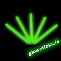 "(Pack of 25) Green 10"" Glow Sticks 250mm"